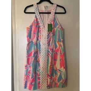 Lilly Pulitzer Dress-Pink Blue Multi Out to Sea